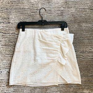 Zara eyelet mini skirt